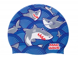 Шапочка MadWave Sharky, blue